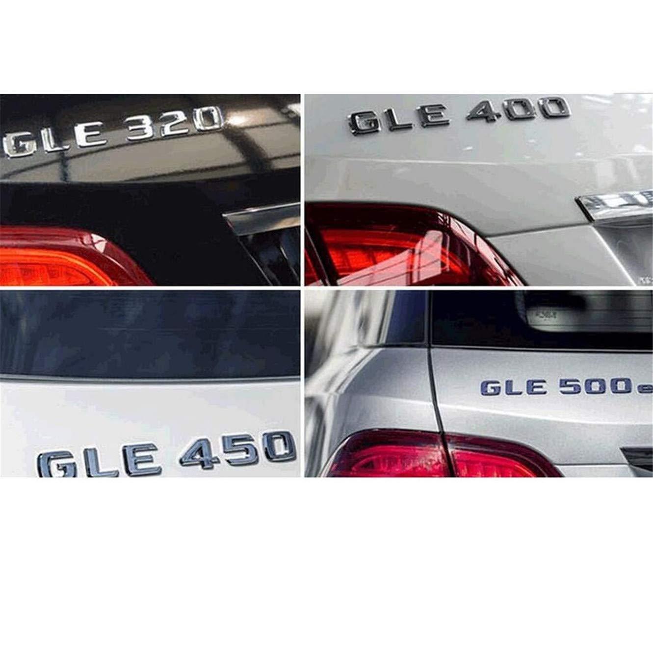 DGF HGF Letras cromadas con n/úmero de emblemas A220d C220d C250d E350d E400d E220d G350d AMG 4matic CDI Bluetec 2017-2019