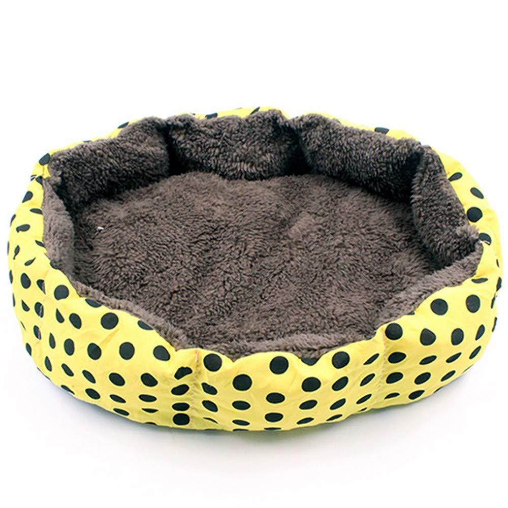 Steaean Cama de Mascotas Lavable Arena para Gatos Peluche Perro pequeño Nido Mascota cálido y Transpirable Estera del Perro Trompeta