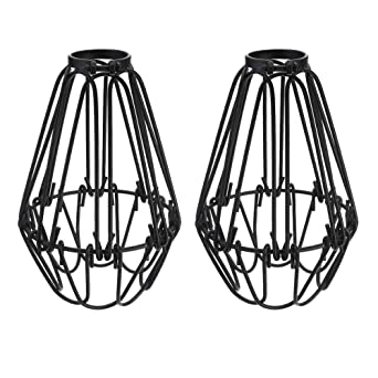 Sunicol - Pantalla para lámpara de techo, diseño de jaula, color ...