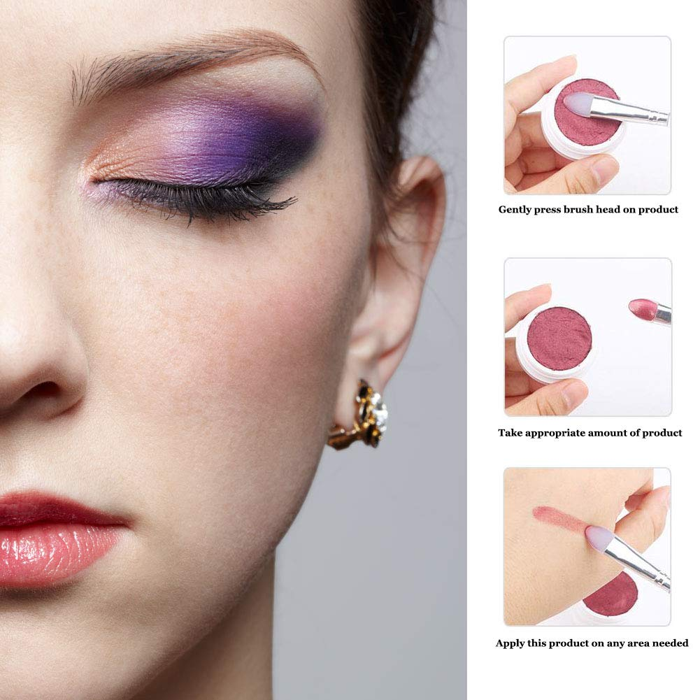 LORMAY 3 Pcs Silicone Eyeshadow and Lip Brushes. Professional Tools for Applying Cream Shadows and Lip Colors: Beauty