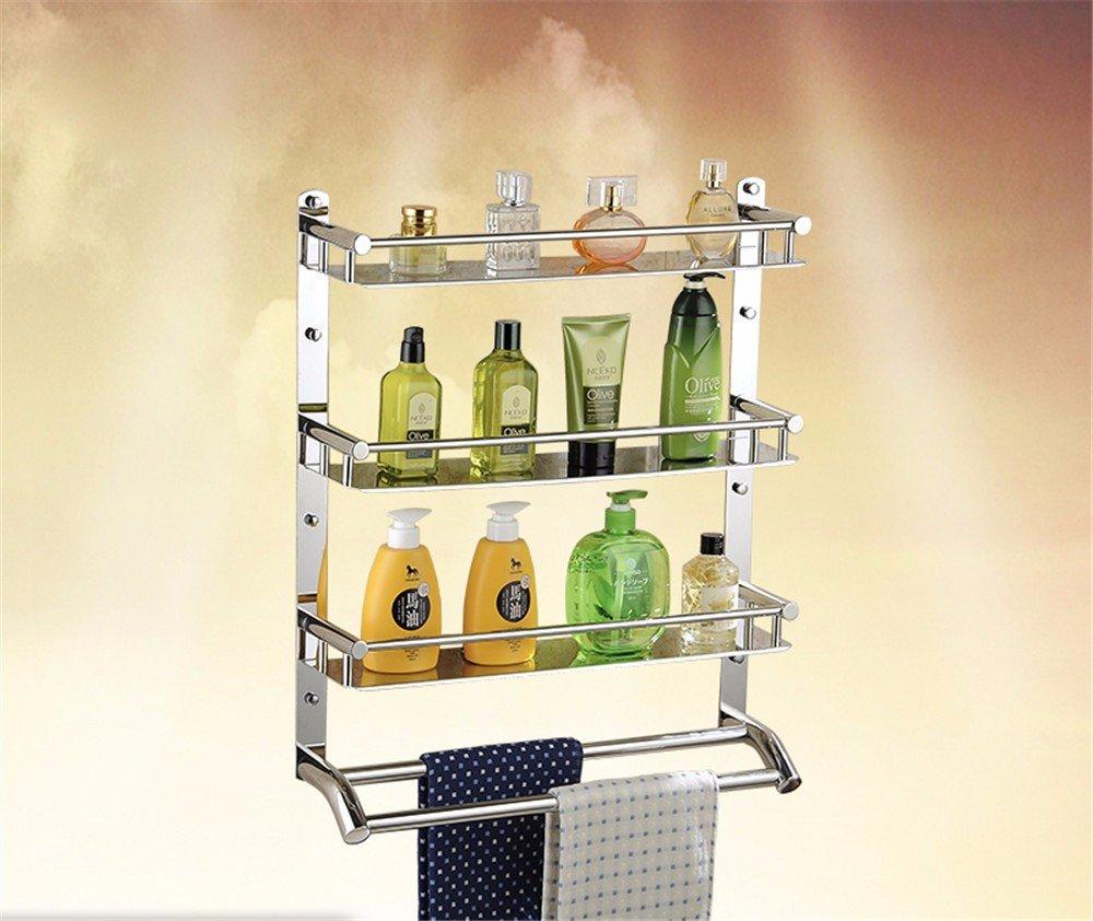 Shower Towel Rack Stainless Steel Towel Rack Bathroom Shelf Bathroom Shelf Bathroom Accessories,60Cmc2