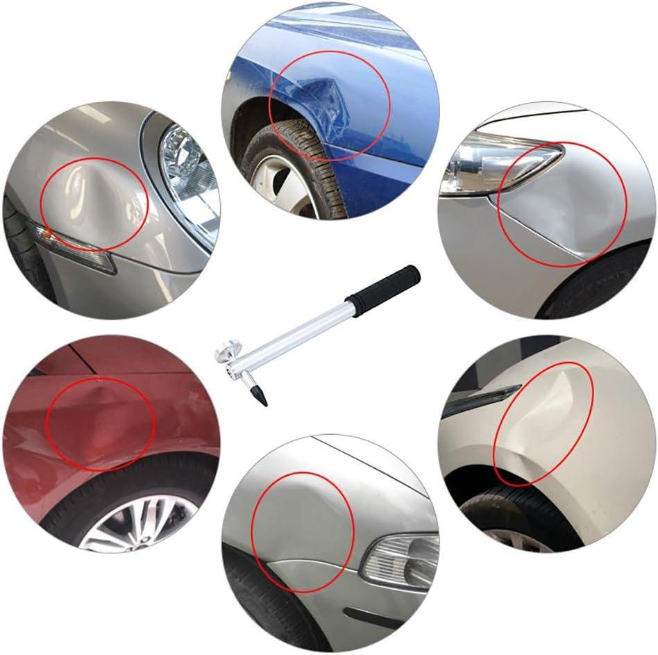 9/teste 1 Tap Down Pen AOLVO auto Body Paintless Dent Remover Knockdown metal Tap Down PDR strumenti fai da te Kit per auto Dent Puller /& grandine danni rimozione di riparazione 5 Heads