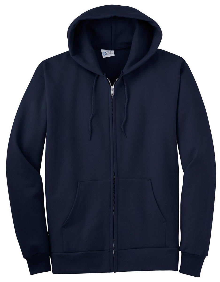 Port & Company Men's Big And Tall Full-Zip Hooded Sweatshirt Navy
