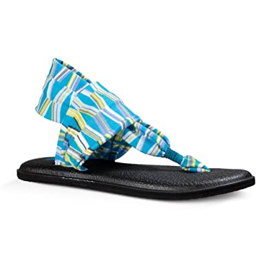 Sanuk Womens Yoga Sling 2 Prints Sandal Blue/Green Mod Geo ...