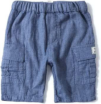 HOSD Shorts Casuales de Hilo para niños Summer Baby Children's Thin Pants