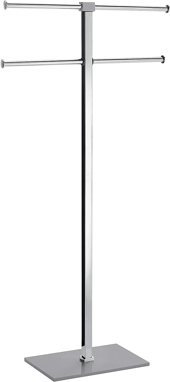 Gris Acier Inoxydable 40,4/X 15,5/X 83/X 7/ Gedy Rainbow Porte-Serviettes sur Pied