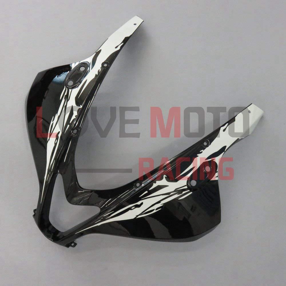 LoveMoto ブルー/イエローフェアリング ホンダ honda CBR600RR F5 2007 2008 07 08 CBR 600RR F5 ABS射出成型プラスチックオートバイフェアリングセットのキット ブラック ホワイト   B07KD4YCM7
