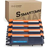 S SMARTOMNI Compatible Toner Cartridge Replacement for Brother TN630 TN660 (Black 4-Pack), Compatible use with Brother DCP-L2520DW L2540DW HL-L2300D HL-L2340DW HL-L2360DW HL-L2380DW MFC-L2700DW