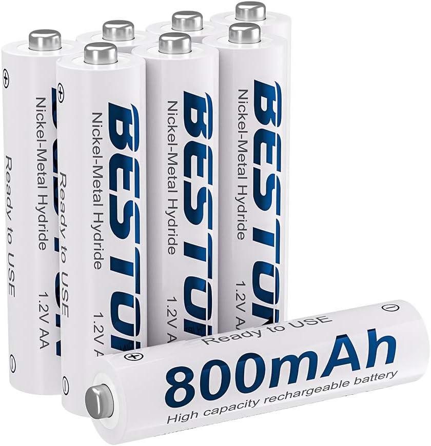 Amazon Com Rechargeable Aaa Batteries Beston Nimh Triple A Batteries 800mah 8pack Electronics