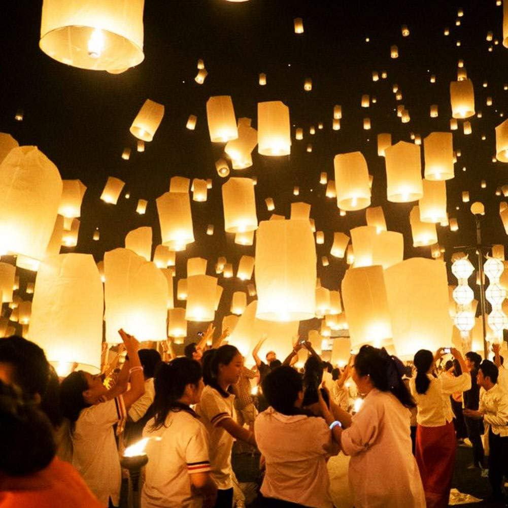 Hochzeiten und mehr Zeremonien 10 St/ück Balai Chinesische Laterne Himmelslaternen fliegen Wunschlampe Air Kongming Laterne f/ür Geburtstage
