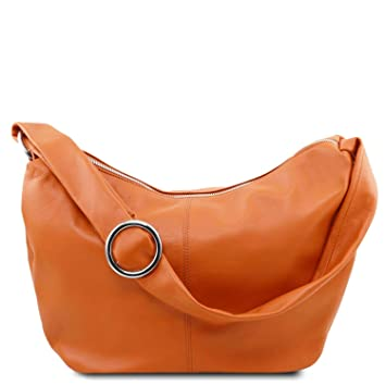 c1eb274e0e37 Amazon.com  Tuscany Leather Yvette Soft leather hobo bag Cognac  Tuscany  Leather  Tuscany Leather Official Store