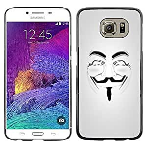 iKiki Tech / Estuche rígido - Anonymous Mask Guy Fawkes Freedom - Samsung Galaxy S6 SM-G920
