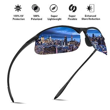 JULI Polarisierte Sport Sonnenbrille Herren Damen Tr90 Unzerbrechlich Rahmen Running Fischerei Baseball MJ8002 kCveuWihc
