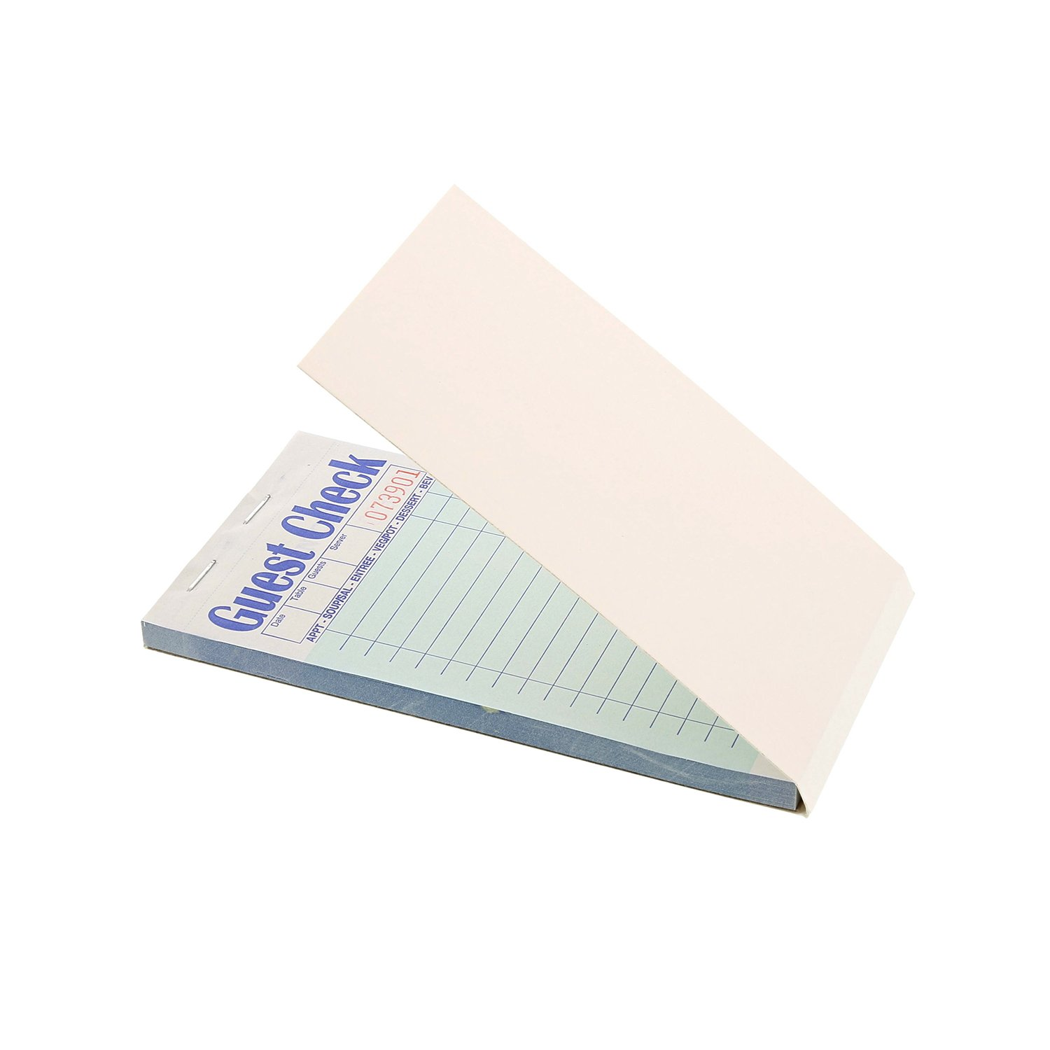 Royal Green Guest Check Paper, Carbonless with 17 Lines, 2 Part Booked, Case of 50 Books