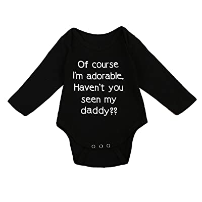 3c5187d68f3f Emmababy Infant Baby Boys Romper Girls Long Sleeve Bodysuit Outfit Clothes  Words Printing Jumpsuit