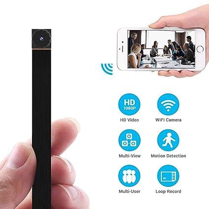 Mini Cámara espía, PANNOVO 720P Cámara Oculta WiFi Mini cámara Cámara inalámbrica para niñera con