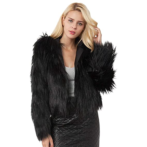 1ca67f2877 Womens Sweaters Pullover,Womens Ladies Warm Faux Fur Coat Jacket Winter  Solid Hooded Parka Outerwear