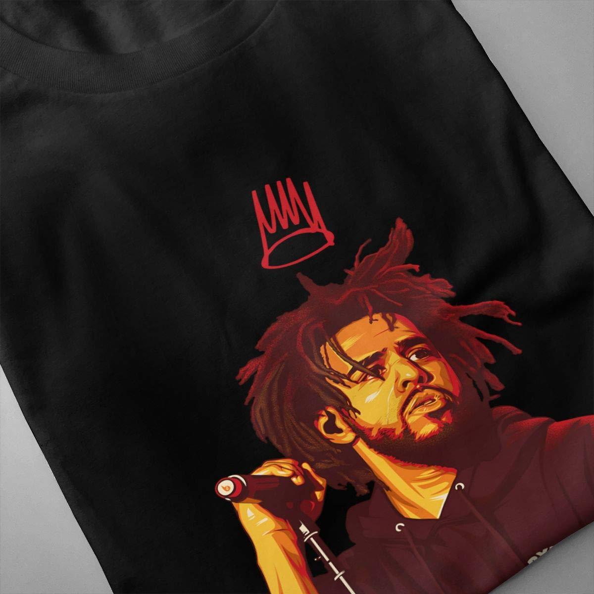 FengYuqi J Cole Mens Youth Pop Short Sleeves T Shirt Classic T Shirt Black