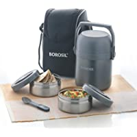 Borosil Hydra Stainless Steel Lunch Box