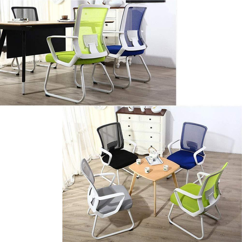 Kontorsstol DALL nätduk mottagningsstol bekväm mjuk slitstark personalstol dator skrivbord stol (färg: Grön) Grått