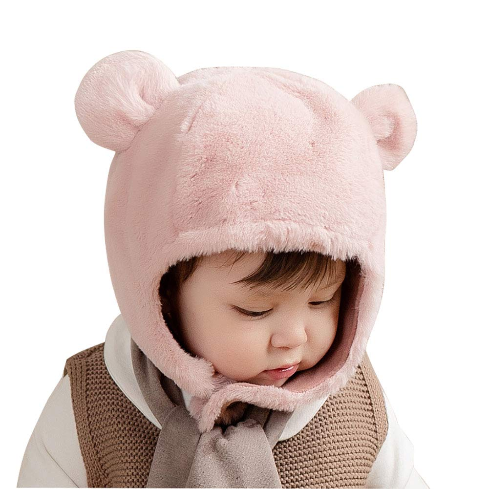 Tukistore Bambino Ragazzi Ragazze Peluche Cappello invernale Berretto per bambini Berretto con paraorecchie Cappello orso carino