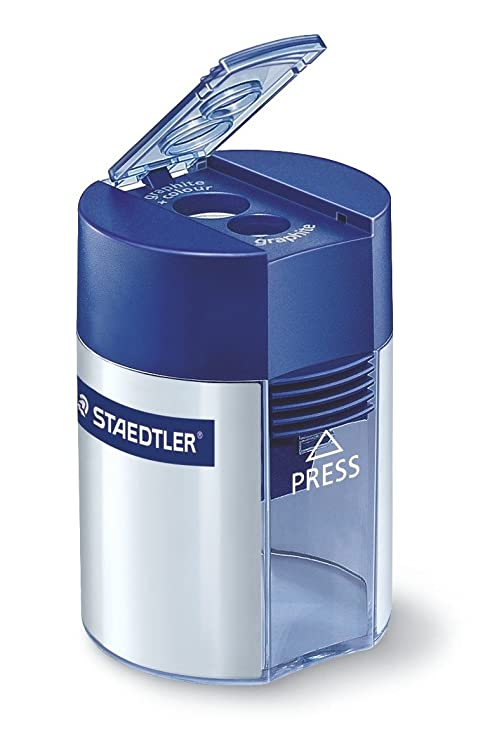 89eee85019 STAEDTLER, temperamatite a due fori con serbatoio 512 001: Amazon.it ...