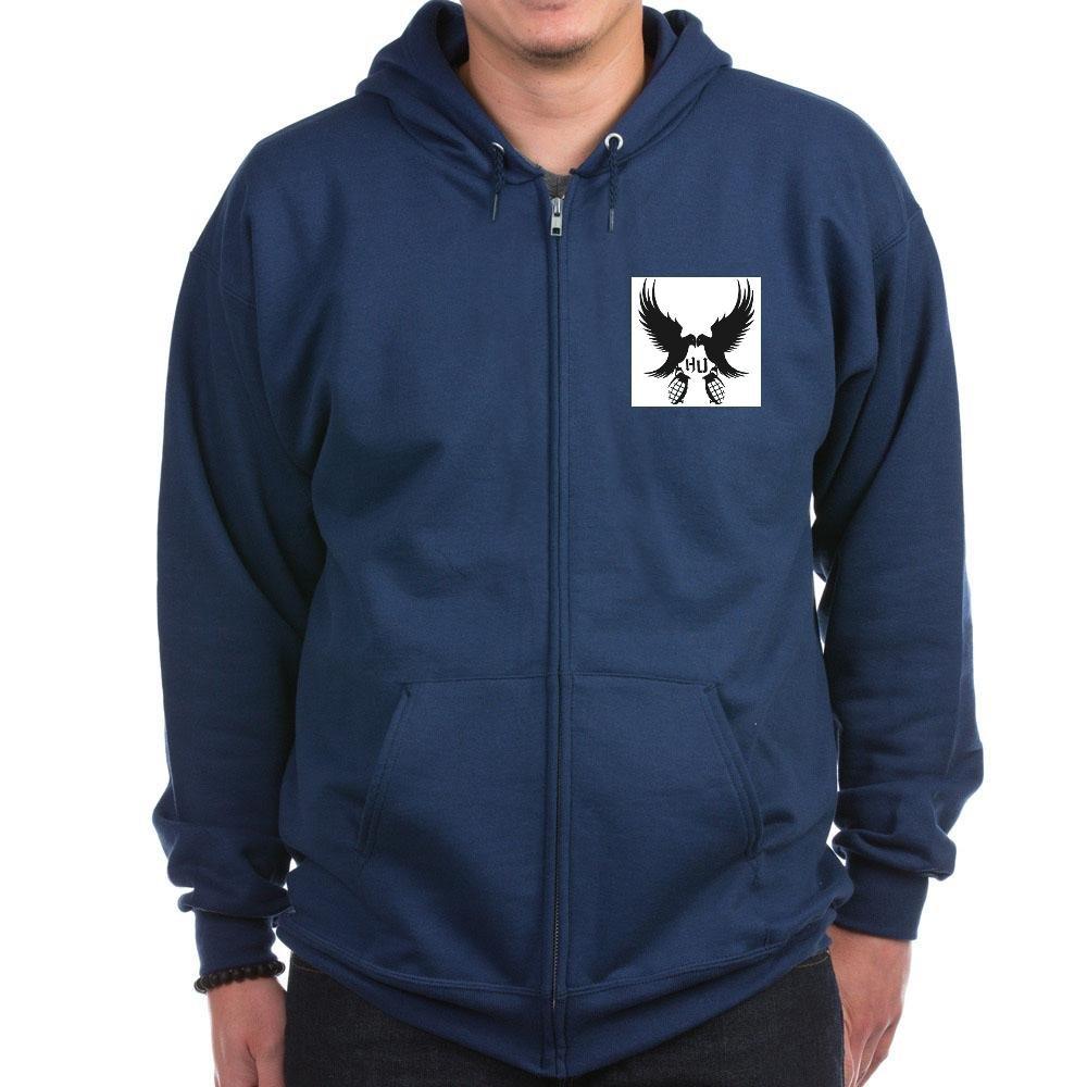 CafePress - Dove and Grenade Hollywood Undead Zip Hoodie (Dark - Zip Hoodie, Classic Hooded Sweatshirt with Metal Zipper