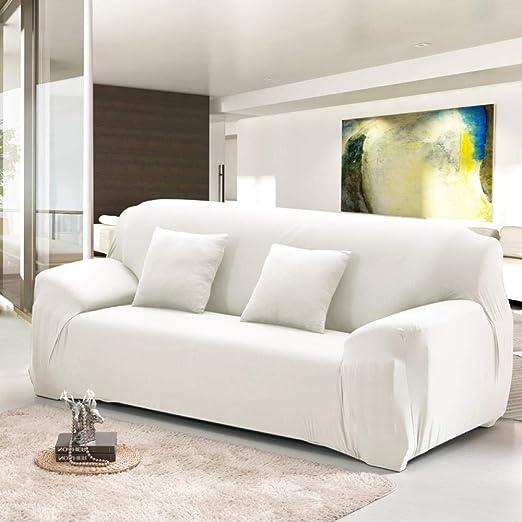 Hhjj Funda de sofá sólida para Sala de Estar Funda elástica ...