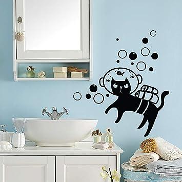 kina UV00771 Decoración de Pared en vinilos Adhesivos de PVC Transparente Gatos Negros - Medidas 1 Hojas 30x43: Amazon.es: Hogar
