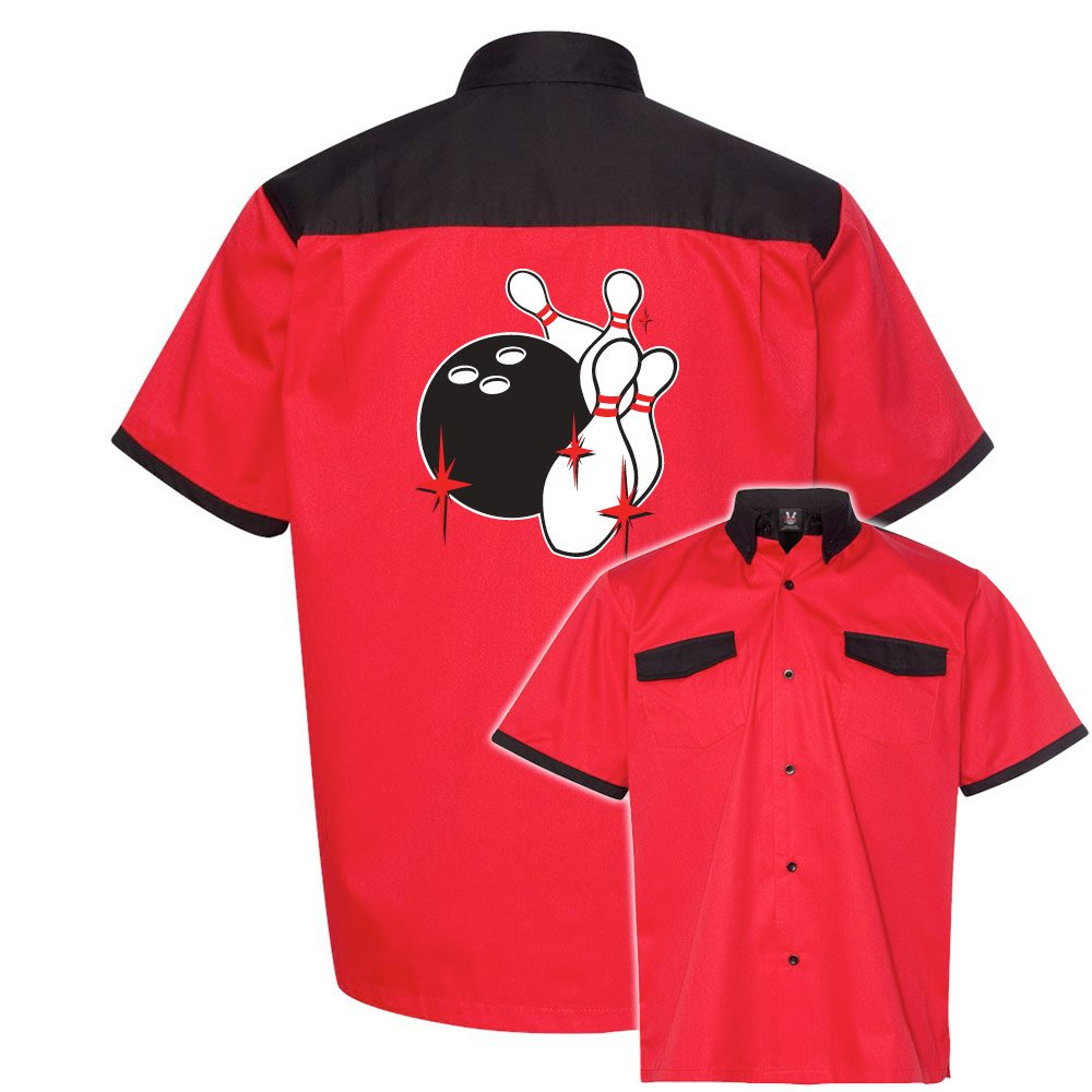 Pin Splash C Stock Print on Anchor Man Bowling Shirt
