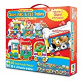 The Learning Journey Doubles-Giant ABC and 123 Train Floor Puzzles