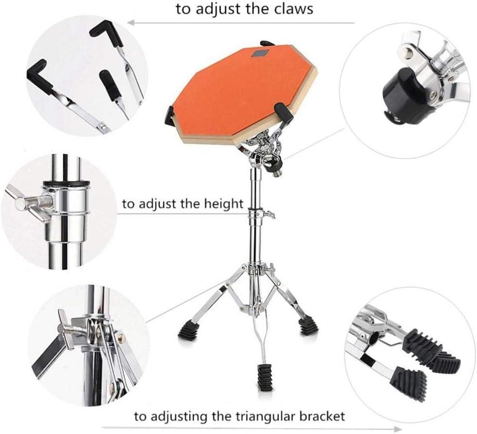 Exuberanter 10-15 Inch Snare Drum Stand Foldable Floor Drum Holder Stainless Steel Adjustable Tripod For Steel Tongue Dumb Drum Snare Drum