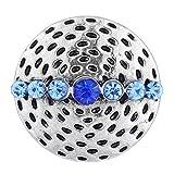 Wholesale Vocheng Interchangeable Jewelry 2 Colors 18mm Vintage Button Vn-101820 Pack of 20pcs (Blue)