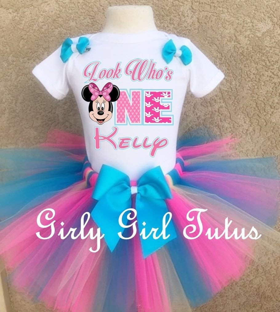 6a05aec80aa8d Personalized Minnie Mouse 1st birthday Tutu Outfit Set