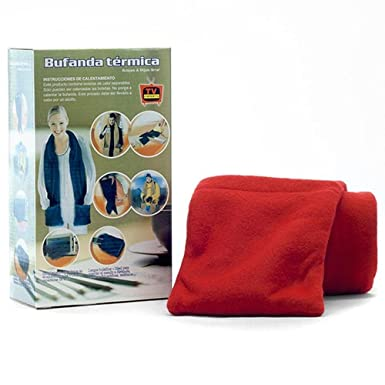 ebd82659f1ae Echarpe chauffante (rouge) Polaire  thermique micro onde  Amazon.fr ...