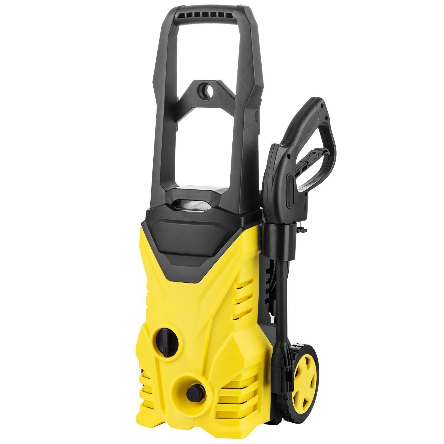 Cosway Electric Pressure Washer with Power Hose Nozzle Spray Airbrush/Hose Reel,2000 PSI 1.4 GPM-Yellow[US STOCK]