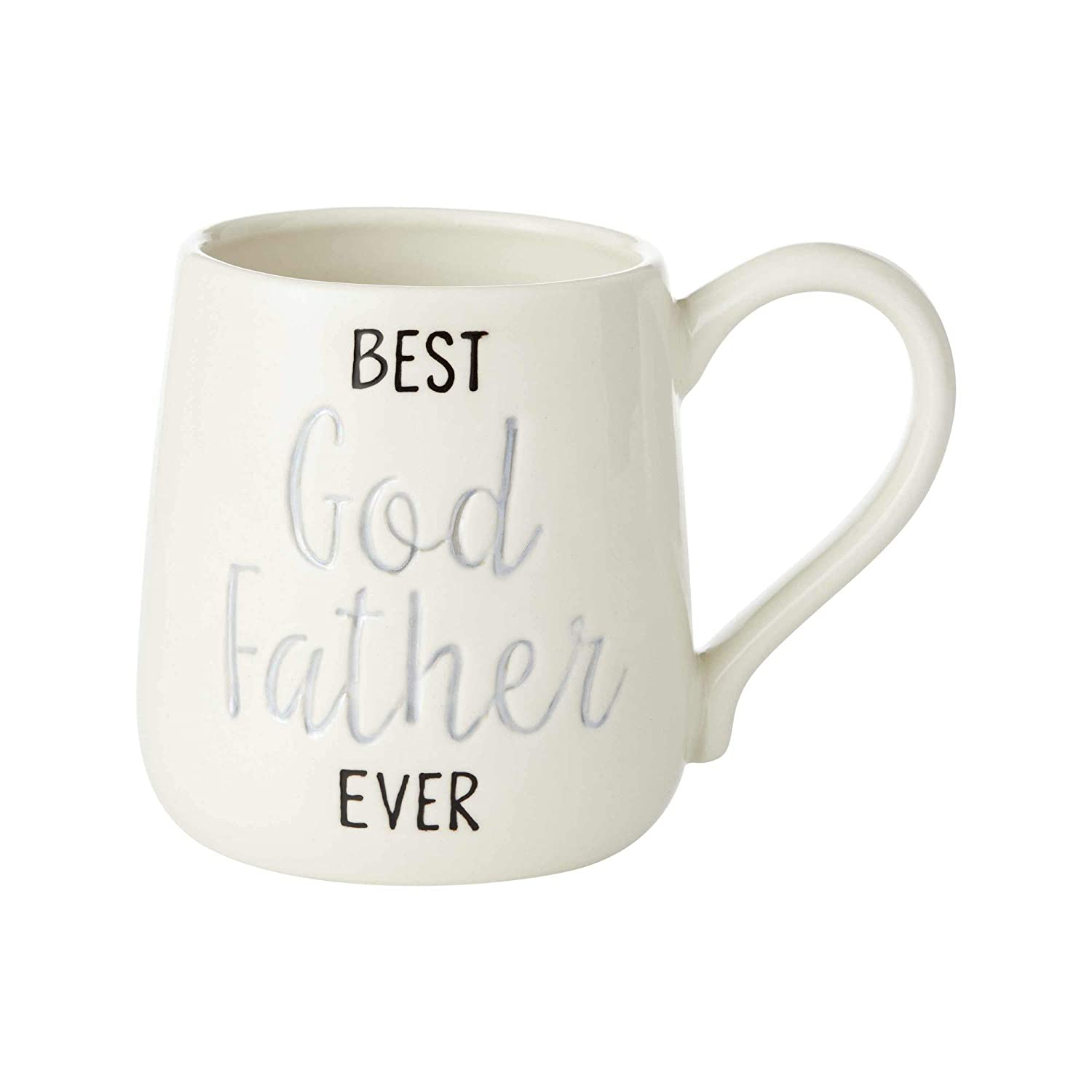 Enesco 6003379 Our Name is Mud Best Godfather Engraved Coffee Mug 16 oz Multicolor