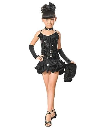 f06683c7 ... Ballet Dresses, Princess Sequin Tango Dance Dress Skirt + Necklace +  Sleeve + Flower Four Sets Costumes Party Dancewear Ballroom: Amazon.co.uk:  Clothing