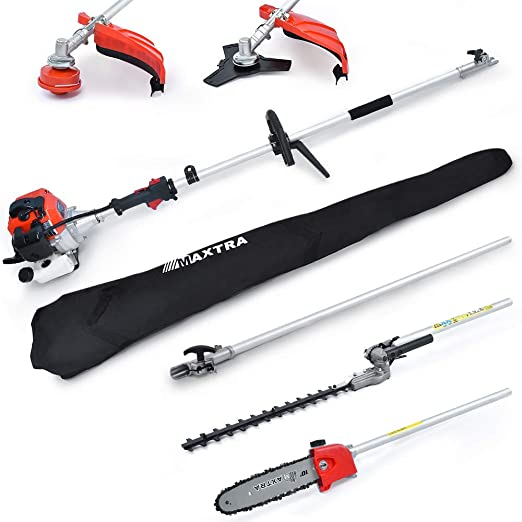 MAXTRA 42.7cc Powerful 8.2 FT to 11.4 FT Extension 4 in 1 Hedge Trimmer Pole