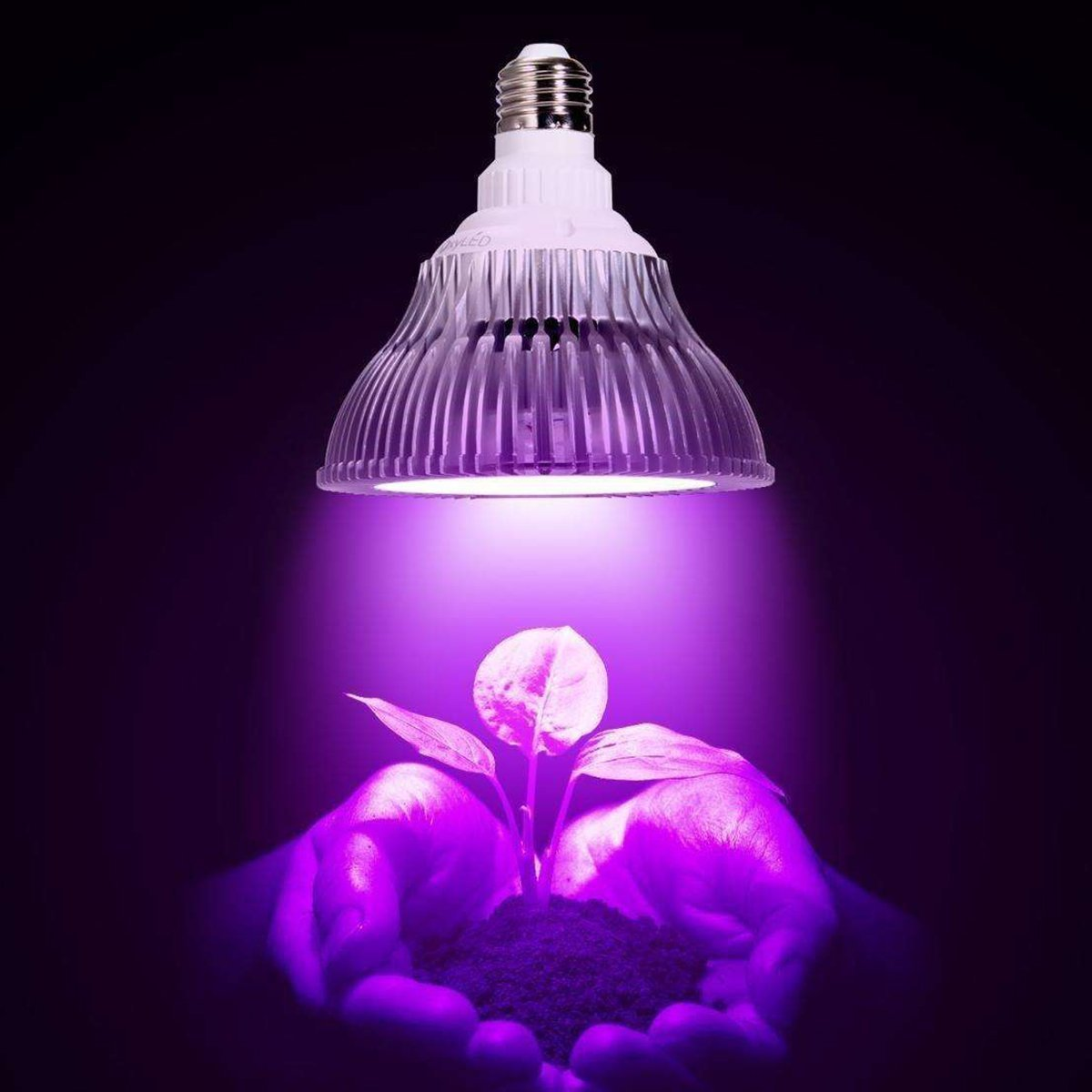 GALYGG 18W LED Grow Light Bulb,E26 Socket,Plant Lamp,for Indoor Plants,Hydroponics,Greenhouse Organic,Home,Garden Lighting (3 Blue/15 Red)