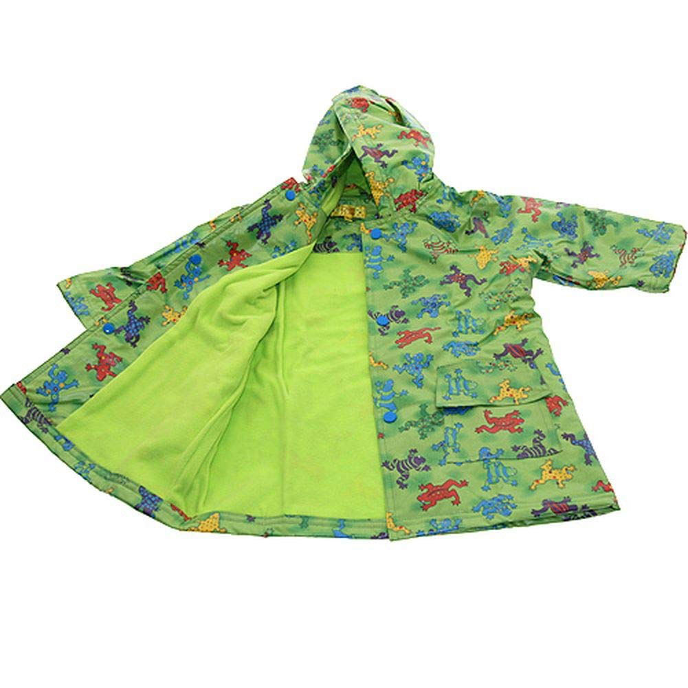 Pluie Pluie Boys Outerwear Green Frog Lined Raincoat 12M/2T