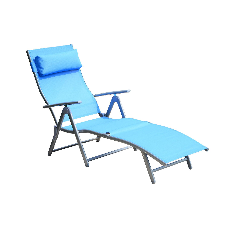 Outsunny Sonnenliege Gartenliege stabil Strandliege klappbar mit ...