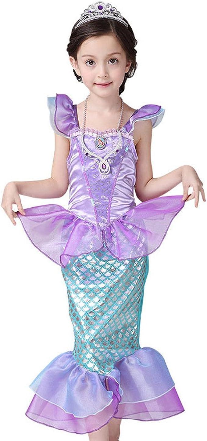 Disfraz de sirena - PePeng - para niñas, color morado: Amazon.es ...