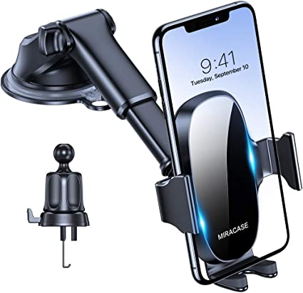 Amazon Com Miracase 4 In 1 Cell Phone Holder For Car Universal Car Phone Holder Mount For Dashboard Air Vent Windshield Compatible With Iphone 11 Pro Max Se Xr Xs 8 Plus Samsung S20 Ultral Note 10 All Phones