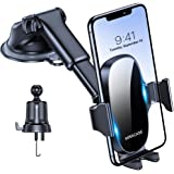 Miracase 4-in-1 Cell Phone Holder for Car, Universal Car Phone Holder Mount for Dashboard Air Vent Windshield Compatible with