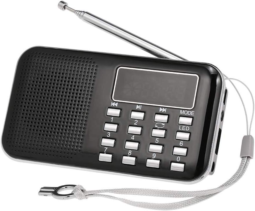 Docooler Y-896 Mini Radio FM Digital Portátil 3W Estéreo Altavoz MP3 Audio Reproductor con Pantalla de 2 Pulgadas Soporte de visualización USB Drive TF Card AUX-IN Auricular