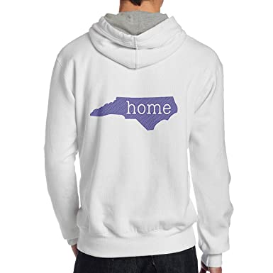 93c5dd3a4899 Amazon.com  North Carolina is Home Mens Round Neck Hoodie Sweatshirt ...