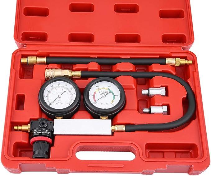 Kompressionspr/üfer f/ür Benzin-Gasmotoren Messschieber GOTOTOP Druckmessger/ät f/ür Zylinder doppelt
