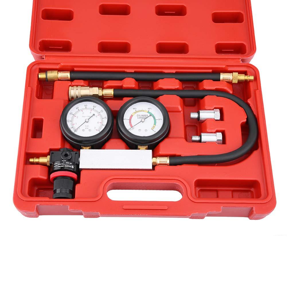 GOTOTOP Cylinder Tester Set Leak Detector Petrol Engine Compression Leakage Leakdown Detector