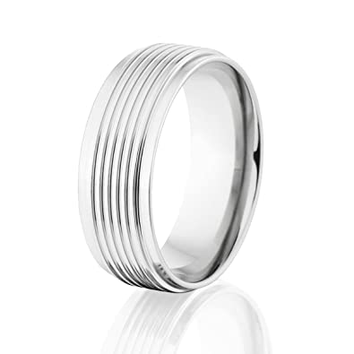 mens cobalt band usa made cobalt wedding rings comfort fit ring - Wedding Rings Amazon